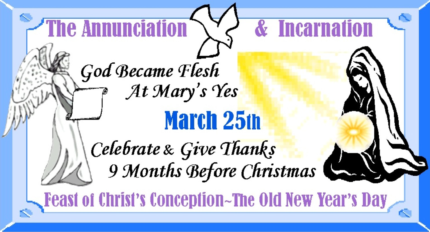 Day of the unborn child feast of the annunciation march 25th use our seasonal banners in e mails blogs and websites to highlight the annunciation or print as signs envelope seals and notepost cards kristyandbryce Choice Image